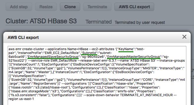 Installation: Amazon Elastic MapReduce (EMR) | Axibase Time Series