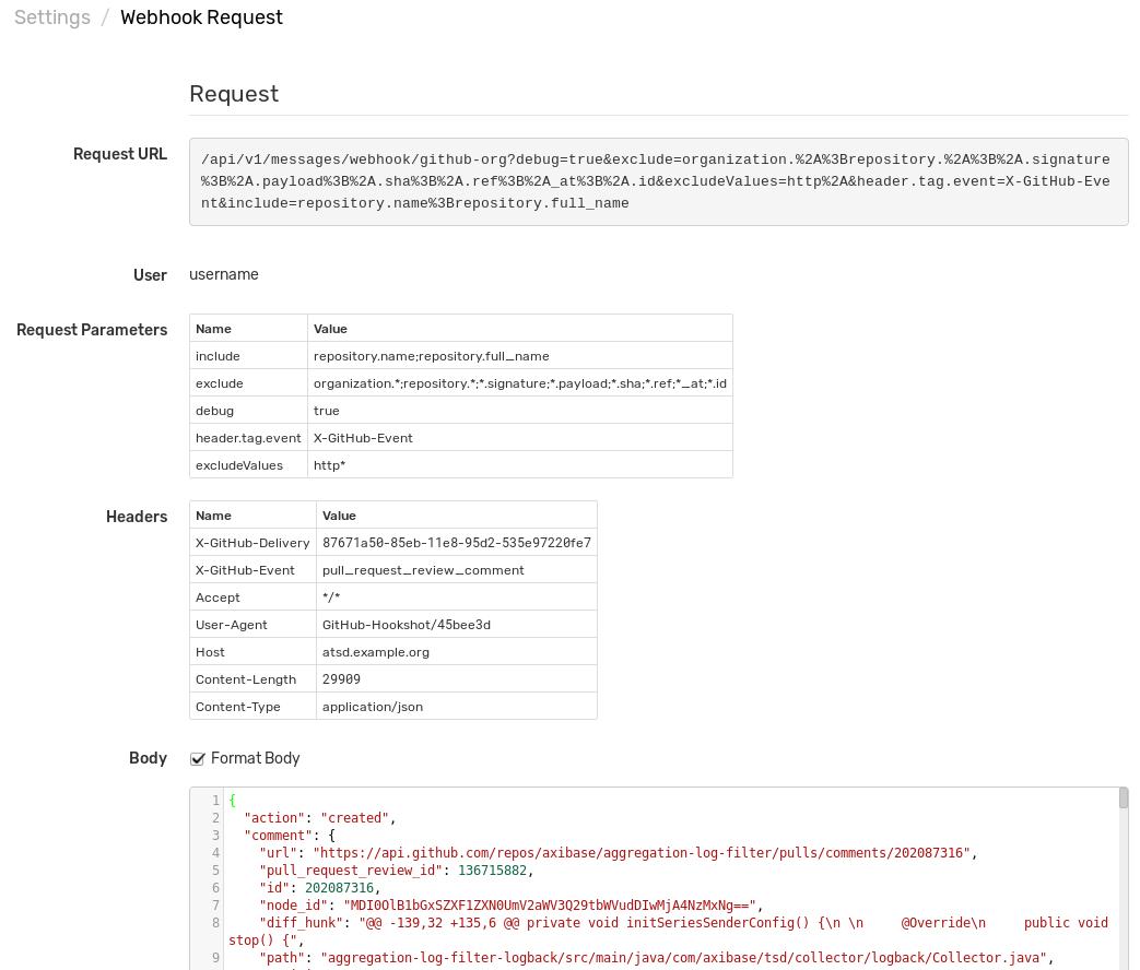 Messages: webhook | Axibase Time Series Database - ATSD