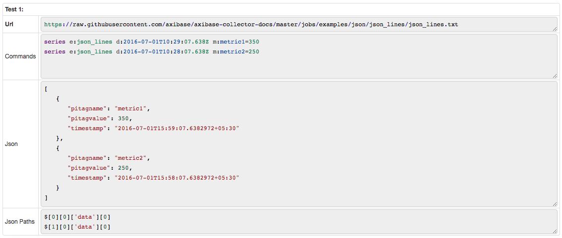 JSON Job Example: JSON Lines | Axibase Collector - ATSD
