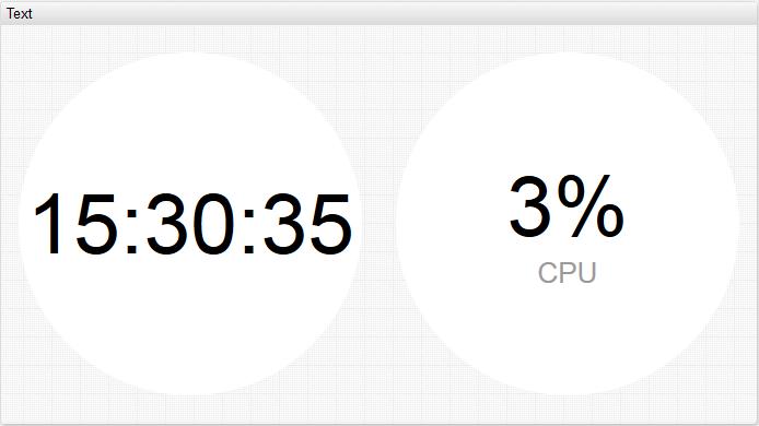 text-clock-widget